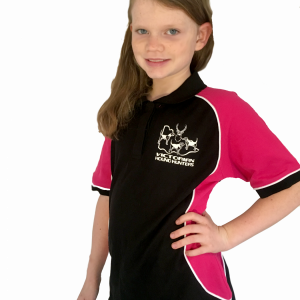 Youth Polo Black/Pink