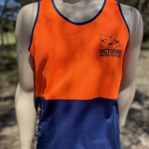 Adult Singlet HiVis Orange/Blue