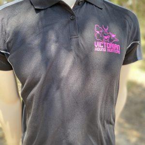 Ladies Polo Black/Ash