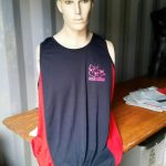 Adult Singlet Navy/Red Pink