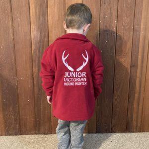 KIDS POLO FLEECE JUMPER RED